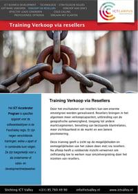 Training Verkoop via resellers